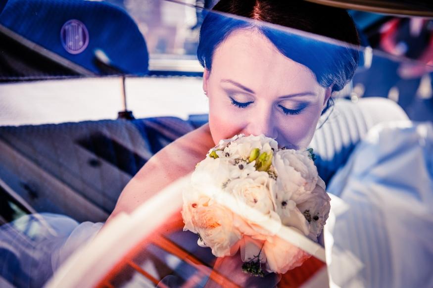Finální svatební fotografie po grafické úpravě